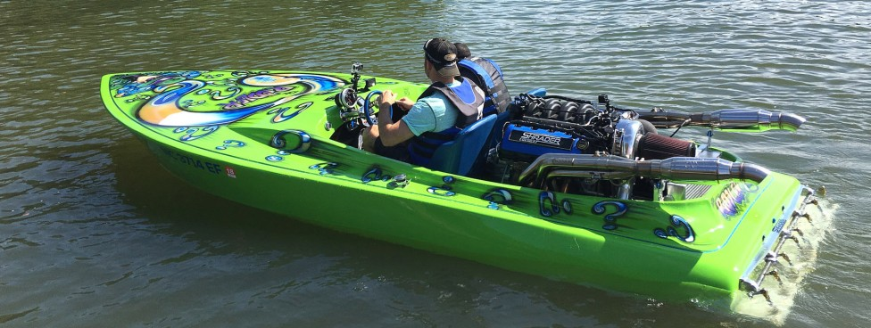 supercharged coyote drag boat
