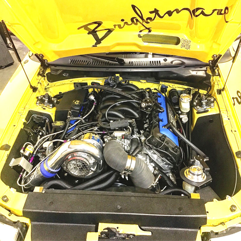 coyote mustang swap shrader swapped vortech engine infamous supercharged e85 steve